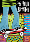 hazy jean birthday skateboard