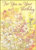 hazy jean birthday yellow daisy garden