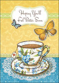 hazy jean get well teacup butterflies